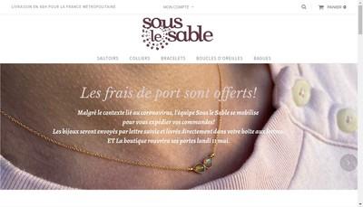 Site internet de Sous le Sable