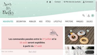 Site internet de Sous les Etoiles Exactement
