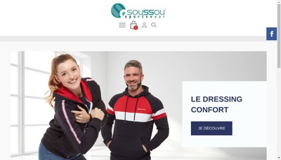 Site internet de Soussou Sportswear