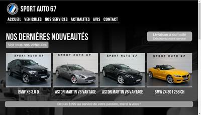 Site internet de Sport Auto 67