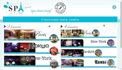 Site internet de Spa Avenue