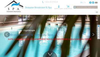 Site internet de Spa Ventoux Provence