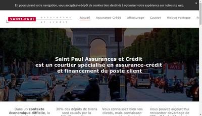 Site internet de Saint Paul Assurances et Credit