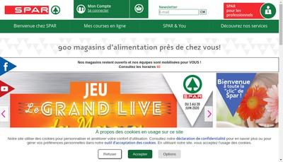 Site internet de Spar France SAS