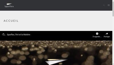 Site internet de Sparflex France