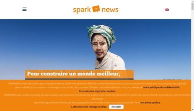 Site internet de Sparknews