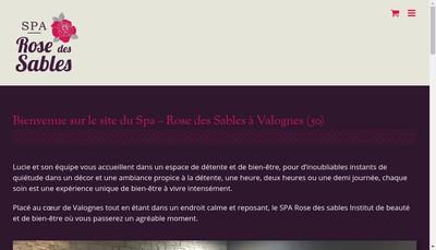 Site internet de Rose des Sables