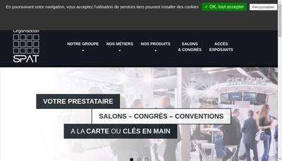 Site internet de SPAT Societe pour la Promotion des Arts et des Techniques