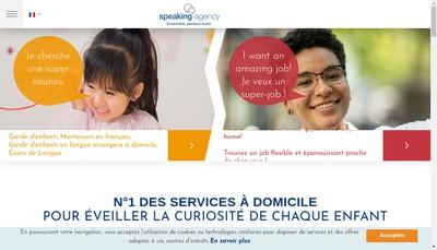 Site internet de Speaking-Agency Services