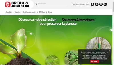 Site internet de Spear & Jackson France SA