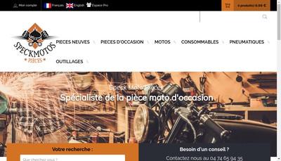 Site internet de Speck Moto Pieces
