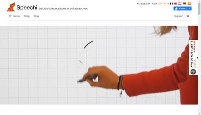 Site internet de Speechi - Ebeam France