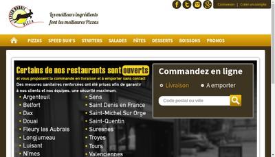 Site internet de Speed Rabbit Pizza