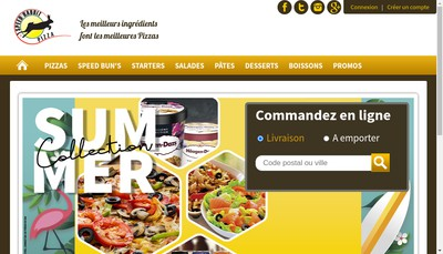 Site internet de Speed Rabbit Pizza