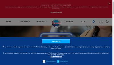 Site internet de Speedy Holding France SAS