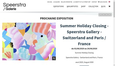 Site internet de Speerstra Gallery