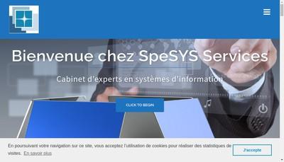Site internet de Spesys Services