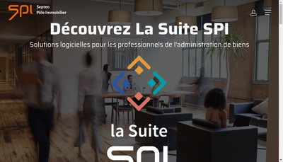 Site internet de Septeo Pole Immobilier