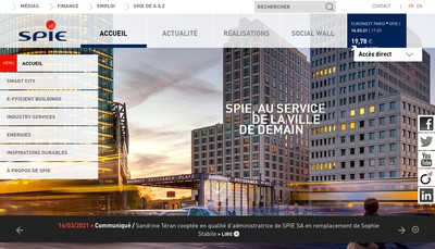 Site internet de Spie Operations