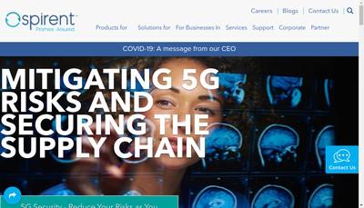 Site internet de Spirent Communications SAS