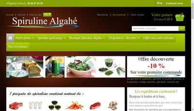 Site internet de Spiruline Algahe