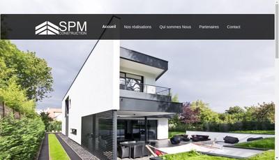 Site internet de SPM Construction