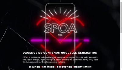 Site internet de Spoa Films & Digital