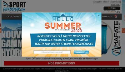 Site internet de Sport Diffusion