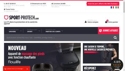Site internet de Sport Protech