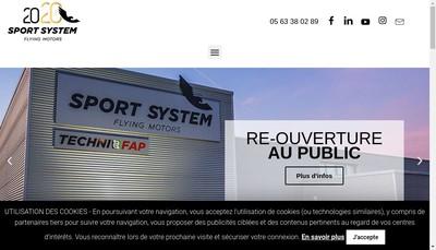 Site internet de Sport System