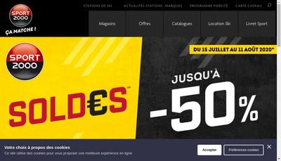 Site internet de Sport 2000