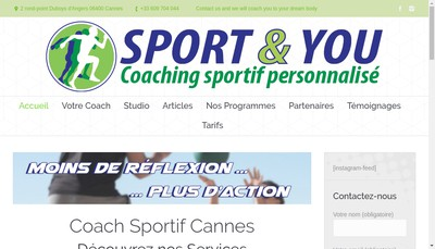 Site internet de Sport & You