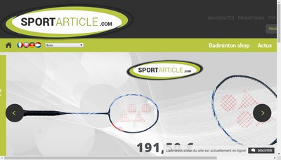 Site internet de Sportarticle