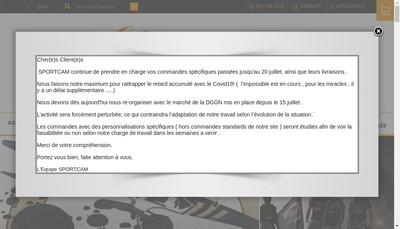 Site internet de Sportcam
