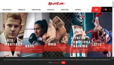 Site internet de SARL Sportcomsms