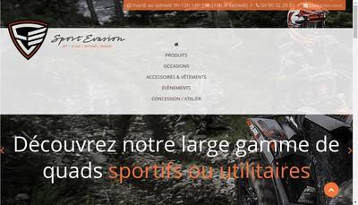 Site internet de Sport Evasion