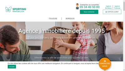 Site internet de Sporting Services Immobiliers
