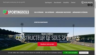 Site internet de Sportingsols