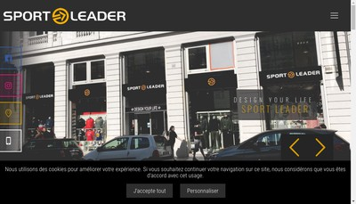 Site internet de Sport Leader