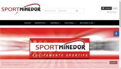 Site internet de Sportminedor
