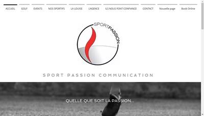 Site internet de Sport Passion Communication