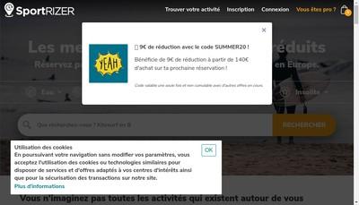 Site internet de Sportrizer