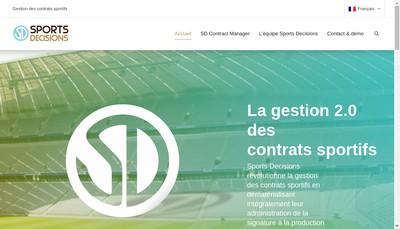Site internet de Sports Decisions