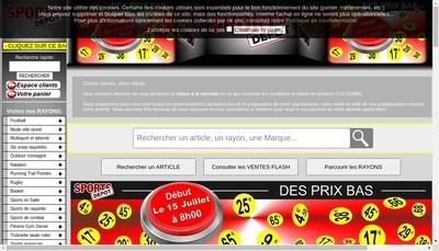 Site internet de Sportsdepot Fr