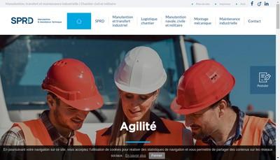 Site internet de Sprd Services a l'Industrie