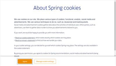 Site internet de Spring Atspring