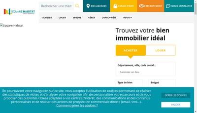 Site internet de Square Habitat Normandie
