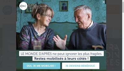 Site internet de Societe de Saint Vincent de Paul