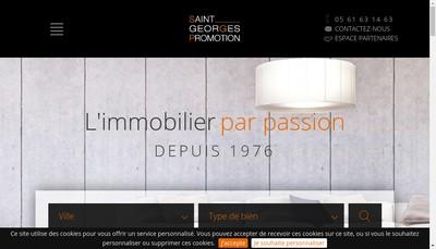 Site internet de Saint Georges Promotion