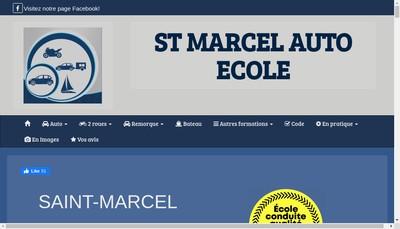 Site internet de Saint Marcel Auto Ecole